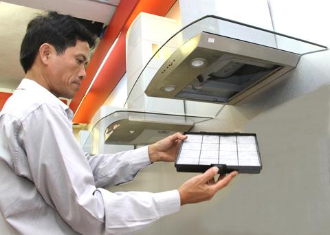 Lắp máy hút mùi bếp tại nhà ở Tp.HCM